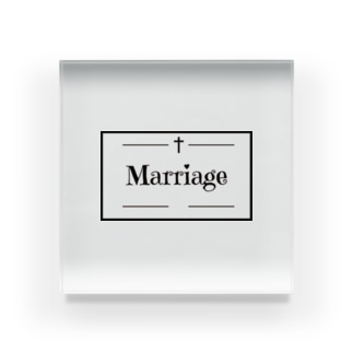 Marriage GothicStyle Acrylic Block
