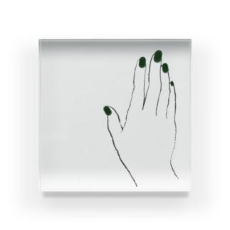 ネイル / green Acrylic Block