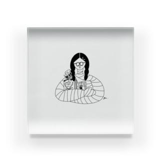 包帯まきまきちゃん Acrylic Block