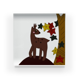 鹿と紅葉 Acrylic Block