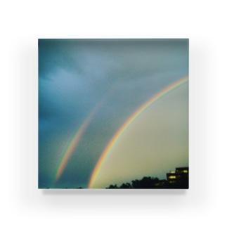 二重の虹 Acrylic Block