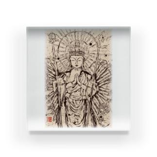 千手観音さま〜祈り〜 Acrylic Block