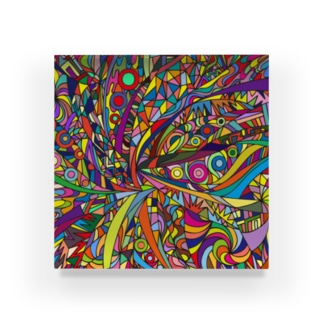 SPOOPY TOWNのRainbow explosion_ square Acrylic Block
