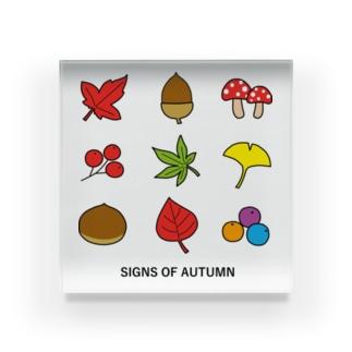 秋のイメージ2 Acrylic Block