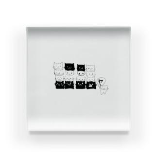 ねこ文字 ニャ Acrylic Block