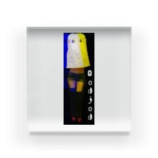 美脚なメジェド Acrylic Block