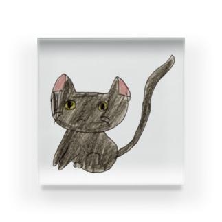 いたずら大好きな黒猫 Acrylic Block