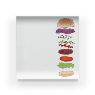 ハンバーガー Acrylic Block