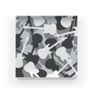 ギター迷彩 (グレー) Acrylic Block