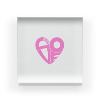 Love Acrylic Block