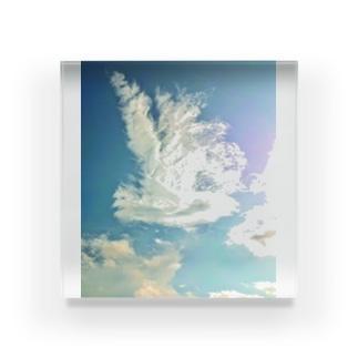 純白の鳳凰 Acrylic Block