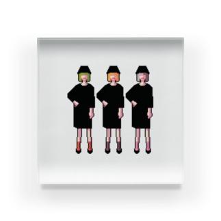 三人の女の子 Acrylic Block
