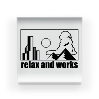 relax and works items Acrylic Block
