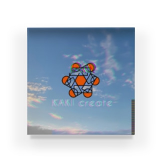 空とロゴ Acrylic Block
