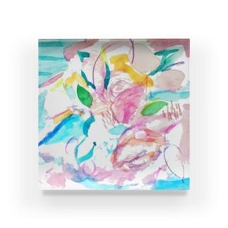 coaiの花のイロ Acrylic Block
