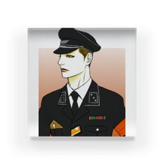 軍服 Acrylic Block