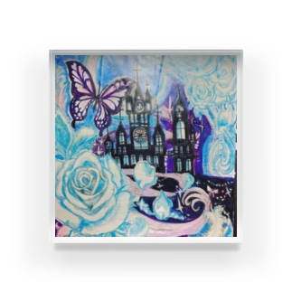 Blue Rose Moon Cat🐱♥ Acrylic Block