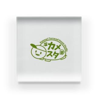 亀有テラスハウススタジオのロゴT Acrylic Block