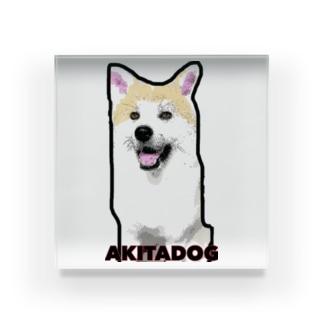 秋田犬もも (漫画調ver.) Acrylic Block
