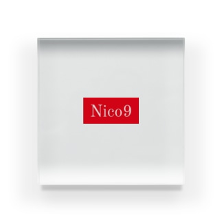 Nico9レッドロゴ Acrylic Block