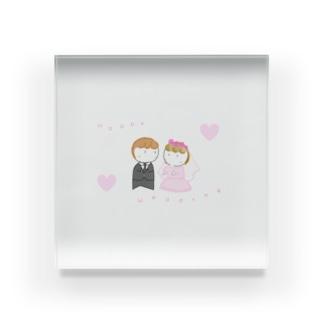 『 Happy Wedding 』 Acrylic Block