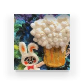 びーるウサギ Acrylic Block