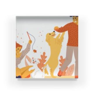 ボス(ワンちゃん、猫ちゃん)と遊ぼう❣️❣️❣️ Acrylic Block