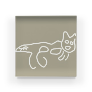 ナスカの地上絵猫ちゃん Acrylic Block
