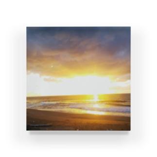 きらめく浜辺 Acrylic Block