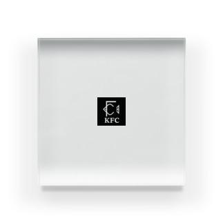 白い中小企業のKFC Acrylic Block