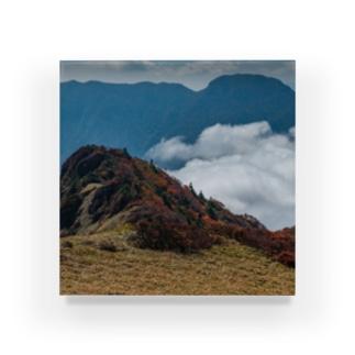 秋の高山 Acrylic Block