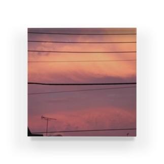夕焼け Acrylic Block