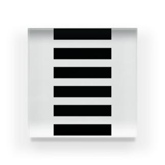 ボーダー 白黒  Acrylic Block