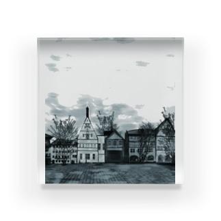 絵画のような街(原色) Acrylic Block