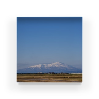 鳥海山と空 Acrylic Block