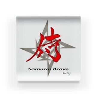 『侍』 Calligraphy by shomey Acrylic Block