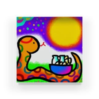 へびのお月見 Acrylic Block
