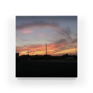 ばにーすぺーの夕焼け Acrylic Block