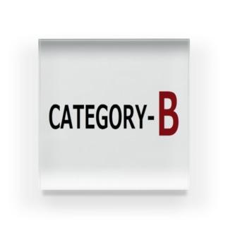カテゴリーB   CATEGORY-B Acrylic Block