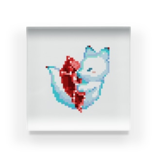 きつねさん(空) Acrylic Block