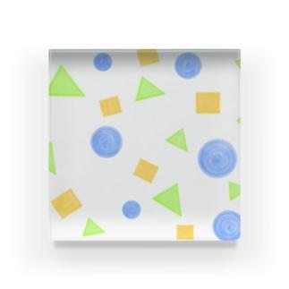 丸・三角・四角② Acrylic Block
