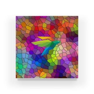 ガラス鳥 Acrylic Block