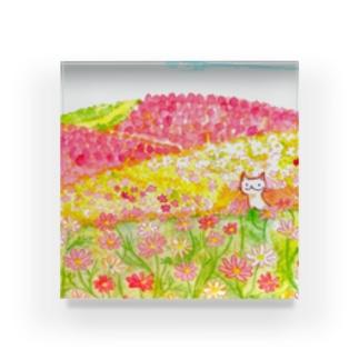 咲き誇れ Acrylic Block
