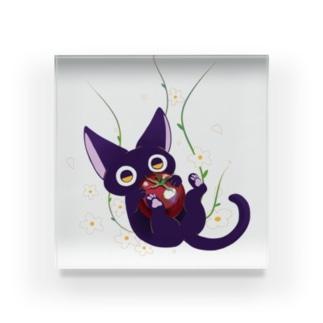 黒猫トマト Acrylic Block