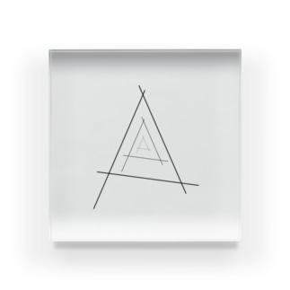 3三角 Acrylic Block