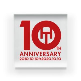 ハヤツウ10周年記念グッズ Acrylic Block