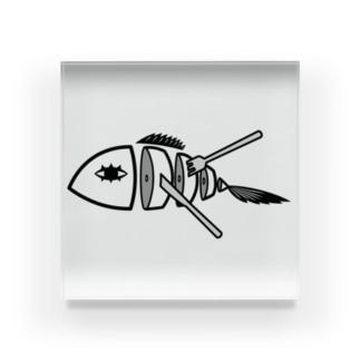 魚ディッシュ Acrylic Block