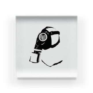 ガスマスク (黒) Acrylic Block