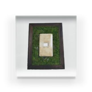苔壁の不穏グッズ Acrylic Block