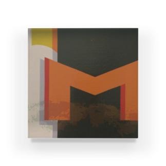 'M' Acrylic Block